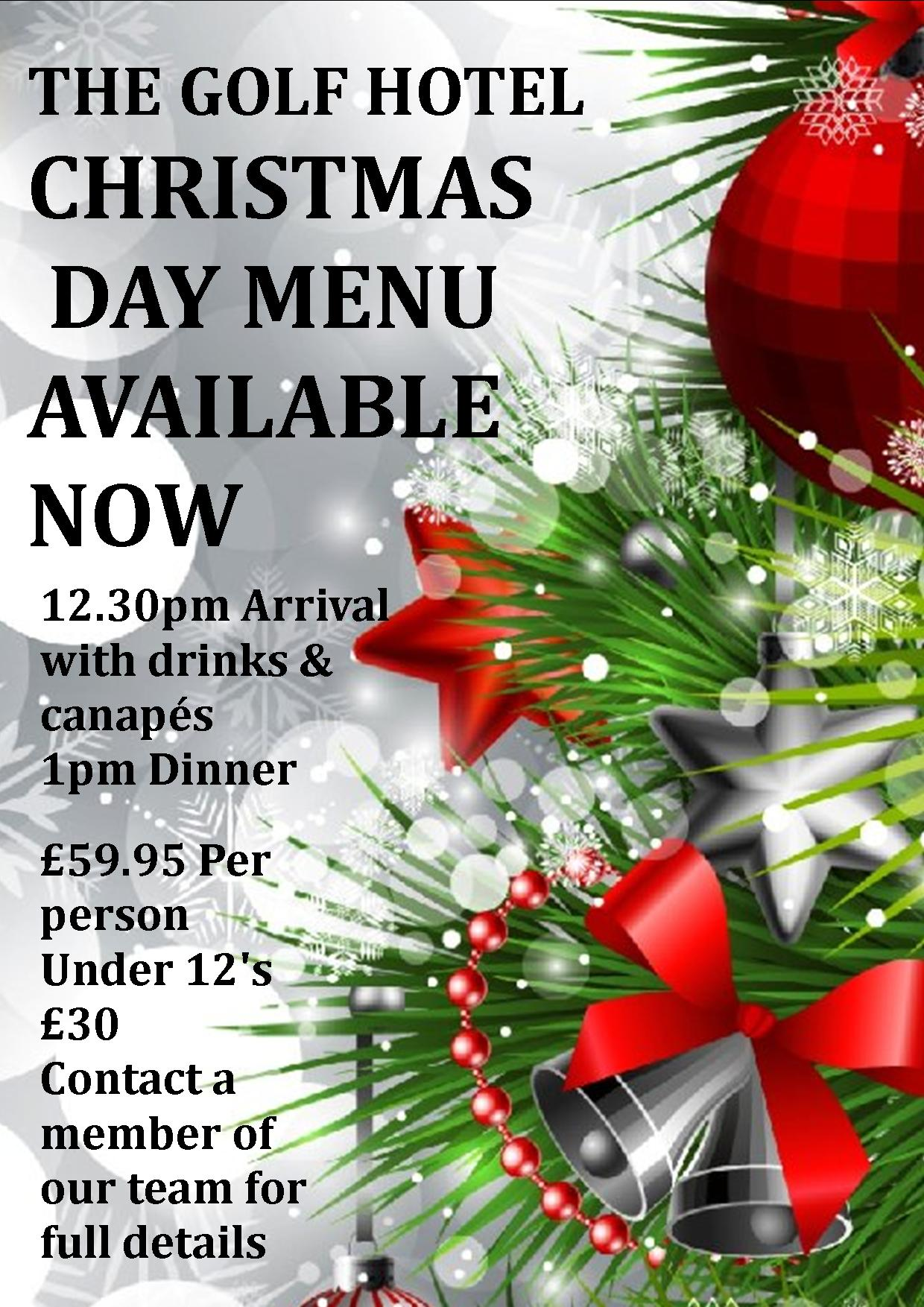 Christmas Day 2018 Poster - Golf Hotel Silloth